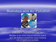 Statistics and Air Pollution - SAMSI