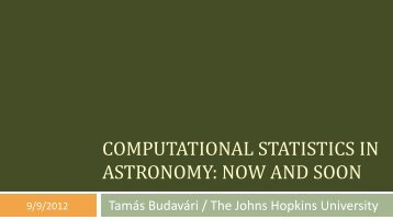 Statistical Methods in Astronomy - SAMSI