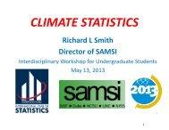 CLIMATE STATISTICS - SAMSI
