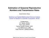 Estimation of Seasonal Reproductive Numbers and ... - SAMSI