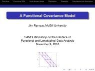 Economical Models for Functional Covariation - SAMSI