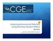 Analyzing Astronomical Data Sets Using Nonlinear ... - SAMSI