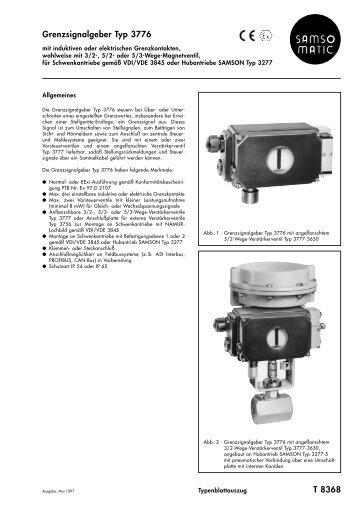 Typenblatt T 8368 DE (05.97) - Samson