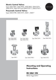 Mounting and Operating Instructions EB 5861 EN - Samson