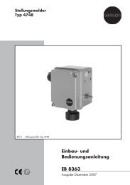 Einbau- und Bedienungsanleitung EB 8363 - Samson AG Mess