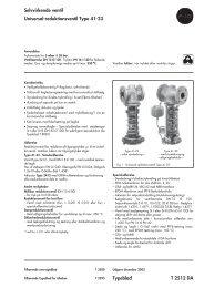 Selvvirkende ventil Universal-reduktionsventil Type 41-23 ... - Samson