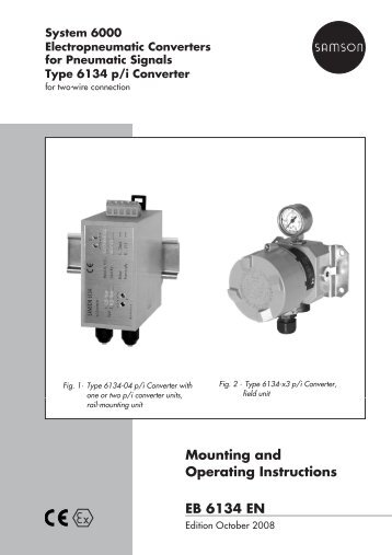 mounting and operating instructions eb 3226 en samson ag rh yumpu com iPad Operating Guide GEM-RP8 Codes Operating Guide