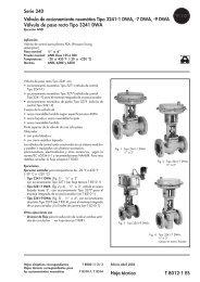 Serie 240 Válvula de accionamiento neumático Tipo 3241 ... - Samson