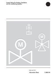 Information Sheet T 5800 EN Control Valves for ... - Samson AG Mess