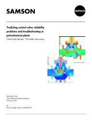 Predicting Control Valve Reliability Problems and ... - Samson