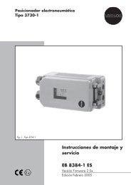 Instrucciones de montaje y servicio EB 8384-1 ES - Samson