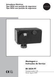 Montagem e Instruções de Serviço EB 5824 PT - Samson
