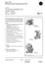 Typenblatt T 8384-1 Bauart 3730 ... - Samson AG Mess