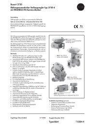 Typenblatt T 8384-4 Bauart 3730 ... - Samson AG Mess