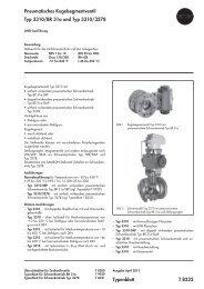 Pneumatisches Kugelsegmentventil Typ 3310 ... - Samson AG Mess