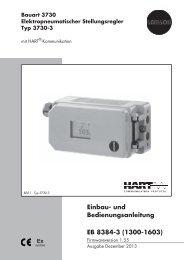 Einbau- und Bedienungsanleitung EB 8384-3 ... - Samson AG Mess