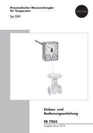 Einbau- und Bedienungsanleitung EB 7065 - Samson AG Mess