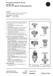 Typenblatt T 8310-1/4/5/6 Pneumatische ... - Samson AG Mess
