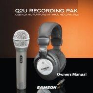 Download the Q2U English User Manual in PDF format - Samson