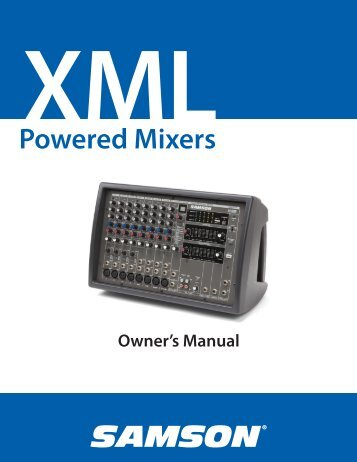 Download the XML410 English User Manual in PDF format - Samson