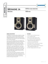 Download the MediaOne 3a Technical Sheet in PDF format - Samson