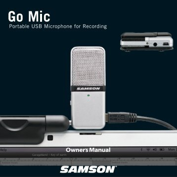 Download the Go Mic English User Manual in PDF format - Samson