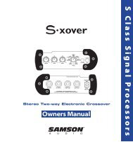Download the S-xover User Manual in PDF format - Samson