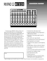 Download the Mixpad 12 Technical Sheet in PDF format - Samson