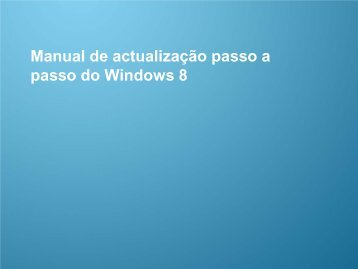 Manual de actualização para o Windows 8 - Samsung