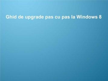 Ghid de actualizare pentru Windows 8 - Samsung