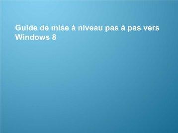 Guide de mise à niveau vers Windows 8 - Samsung