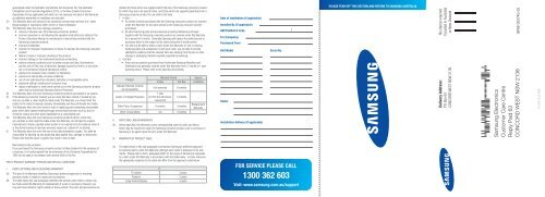 Warranty FOR Digital Projectors, Monitors & Displays pdf