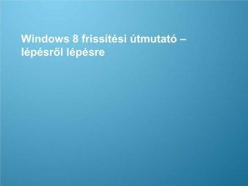 Windows 8 frissítési útmutató - Samsung