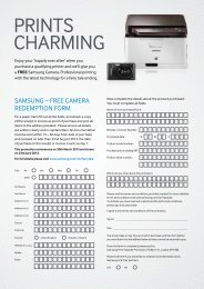 full terms & conditions - Samsung
