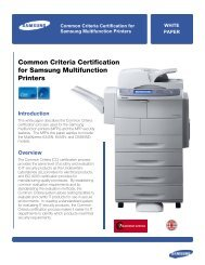 Common Criteria Certification for Samsung Multifunction Printers