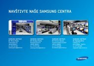 Katalog TV/Audio/Video zde - Samsung