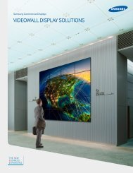 VIDEOWALL DISPLAY SOLUTIONS - Samsung
