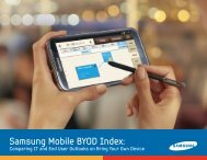 Download the Samsung Mobile BYOD Index.