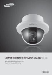 Super High Resolution UTP Dome Camera SUD-3080FUser Guide
