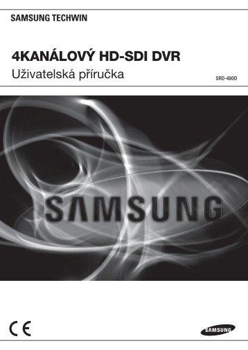 User Manual-SRD-480D-CZECH_Web.indb - Samsung Techwin UK