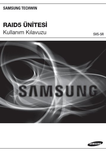raıd5 ünitesi - Samsung Techwin UK