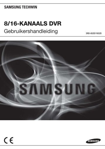 User Manual_SRD-852D, 1652D_DUTCH_Web.indb - Samsung ...