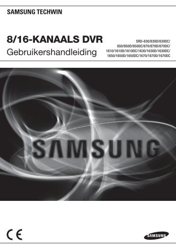 User Manual_SRD-16XX, 8XX_DUTCH_Web.indb - Samsung ...