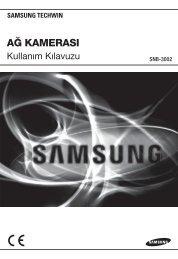 User Manual-SNB-3002-TURKISH_Web-.indb - Samsung Techwin UK