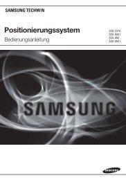 Positionierungssystem - Samsung Techwin UK