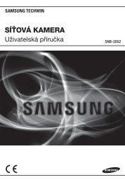 User Manual_SNB-3002-CZECH_Web.indb - Samsung Techwin UK