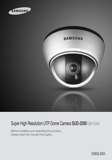 Super High Resolution UTP Dome Camera SUD-2080User Guide