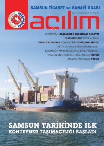 Açılım Sayı:16 Aralık 2010/Ocak 2011 - Samsun Ticaret ve Sanayi ...
