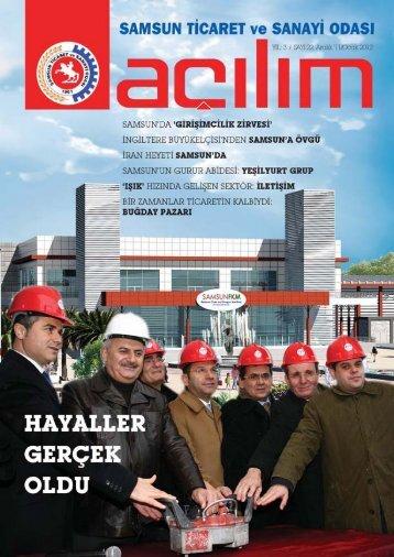 Açılım Sayı:22 Aralık 2011/Ocak 2012 - Samsun Ticaret ve Sanayi ...