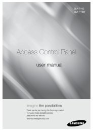 Access Control Panel - Samsung Techwin UK